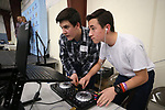 "Oasis High School DJs Ben Polish, left, and Matthew Catlin work at the ""We Are Western"" event hosted by the Western Nevada College Foundation, in Carson City, Nev., on Friday, March 8, 2019. <br /> Photo by Cathleen Allison/Nevada Momentum"