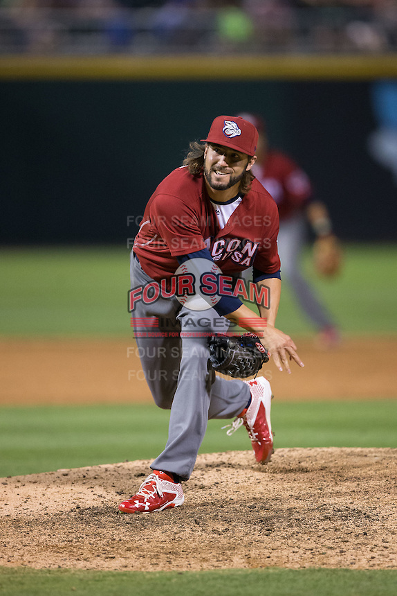 Lehigh Valley Iron Pigs relief pitcher Michael Mariot (31) follows through on his delivery against the Charlotte Knights at BB&T BallPark on June 3, 2016 in Charlotte, North Carolina.  The Iron Pigs defeated the Knights 6-4.  (Brian Westerholt/Four Seam Images)