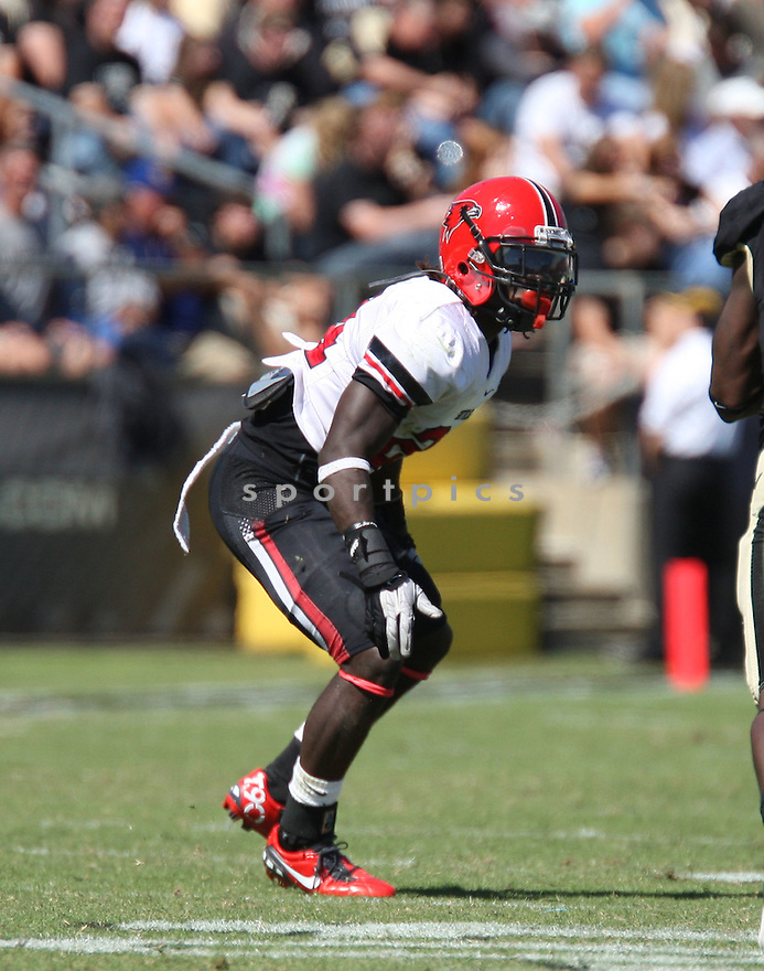 KWEKU ARKORFUL, of the Southeast Missouri State Redhawks, in action during Southeast Missouri's game against Purdue on September 17, 2011 at Ross Ade Stadium in West Lafayette IN. Purdue beat Southeast Missouri 59-0.