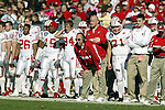Nashville, Tennessee - 12/31/03. University of Wisconsin head coach Barry Alvarez watches from the sidelines during the game vs. Auburn University at the Gaylord Hotels Music City Bowl. Auburn beat Wisconsin 28-14 at The Coliseum. (Photo by David Stluka)