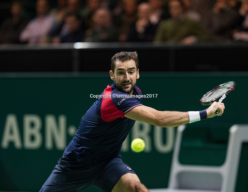 ABN AMRO World Tennis Tournament, Rotterdam, The Netherlands, 14 februari, 2017, Benoit Paire (FRA)<br /> Photo: Henk Koster