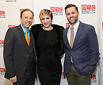 Craig Waleztko, Eden Espinosa and Caleb Damschroder attend the 2017 Manhattan Theatre Club Fall Benefit honoring Hal Prince on October 23, 2017 at 583 Park Avenue in New York City.