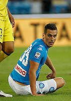 Arkadiusz Milik during the  italian serie a soccer match,between SSC Napoli and AC Chievo       at  the San  Paolo   stadium in Naples  Italy , September 25, 2016