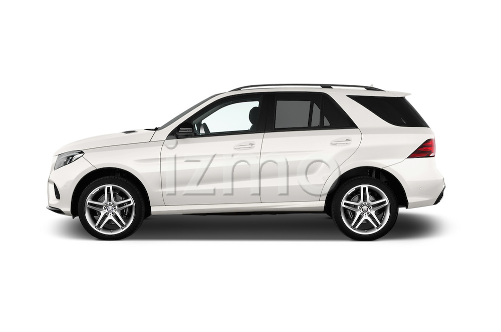 Car Driver side profile view of a 2016 Mercedes Benz GLE-Class 5 Door SUV Side View