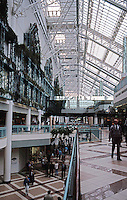 Glasgow: St. Enoch's Centre, Interior. Shopping Center and Ice Rink.Reiach and Hall with GMW Architects. (Photo '90)
