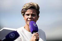 Sue Smith working for BT Sport during Arsenal Women vs West Ham United Women, Barclays FA Women's Super League Football at Meadow Park on 8th September 2019