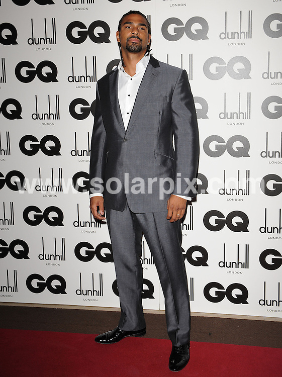 **ALL ROUND PICTURES FROM SOLARPIX.COM**.**WORLDWIDE SYNDICATION RIGHTS**.The GQ Men of the year Awards 2010. Held at the Royal Opera House, Covent Garden, London, on Tuesday September 07, 2010..This pic: David Haye..JOB REF: 12052 SSD     DATE: 07_09_2010.**MUST CREDIT SOLARPIX.COM OR DOUBLE FEE WILL BE CHARGED**.**MUST NOTIFY SOLARPIX OF ONLINE USAGE**.**CALL US ON: +34 952 811 768 or LOW RATE FROM UK 0844 617 7637**