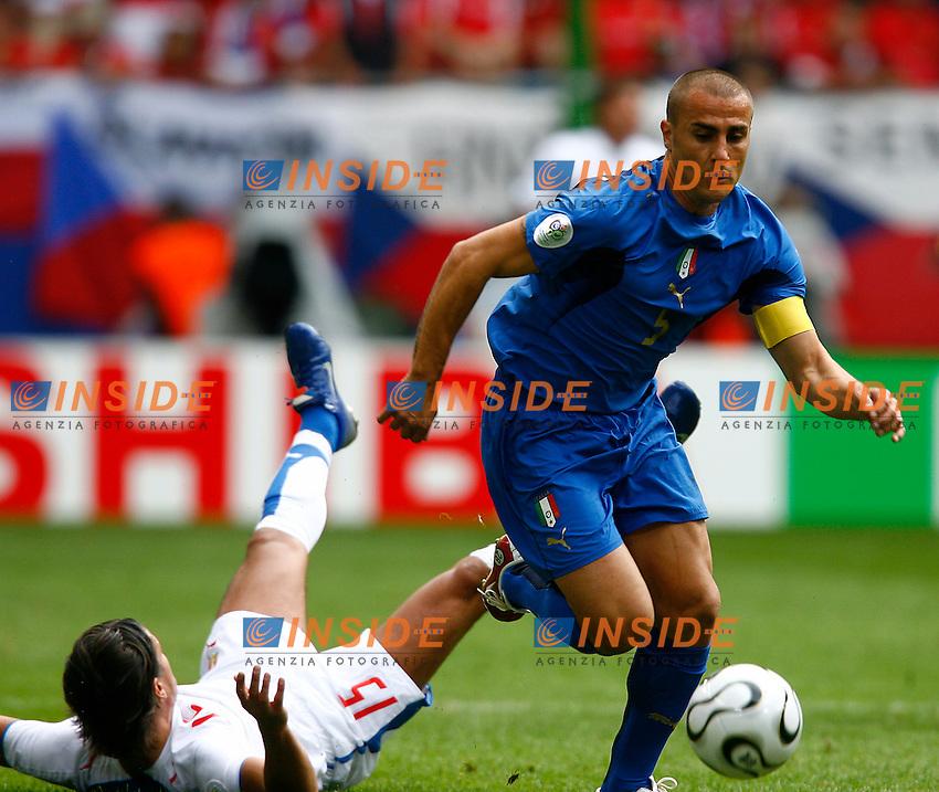 HAmburg 22/6/2006 World Cup 2006.Repubblica Ceca Italia 0-2.Photo Andrea Staccioli Insidefoto.cannavaro e baros
