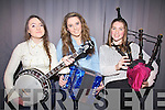 Taking part in the K.D.Y.S. Youth Factor South West Mini Regional Final's on Friday night last in Foilmore were Aoife Sugrue, Nicola O'Sullivan & Clodagh Curran from Valentia.