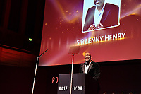 Picture by Simon Wilkinson/SWpix.com 01/122019 -  Rose d'Or 2019 Award Ceremony, red carpet arrivals and winners. Kings Place, London<br /> - Sir Lenny Henry presents