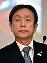 February 6, 2017, Tokyo, Japan - Shigeru Hayakawa, senior managing officer of Toyota Motor Corp., reports third-quarter fiscal 2017 results at its headoffice in Tokyo on Monday, February 6, 2017. Toyota said its group operating profit in the April-December period fell 32.5 percent from a year earlier to $12.7 billion as the yen's appreciation weighed on profitability.  (Photo by Natsuki Sakai/AFLO) AYF -mis-