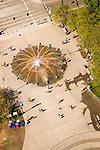 Aerial view of the Ankeny Plaza fountain.