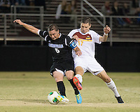 The Winthrop University Eagles beat the UNC Asheville Bulldogs 4-0 to clinch a spot in the Big South Championship tournament.  Adriano Negri (17), Rob May (5)