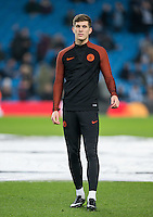 John Stones of Manchester City warms up before the UEFA Champions League GROUP match between Manchester City and Celtic at the Etihad Stadium, Manchester, England on 6 December 2016. Photo by Andy Rowland.