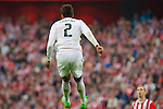 Football match during La Liga between the teams Athletic Club &. Real Madrid in San Mames Berria Stadium in Bilbao.<br /> Bilbao, 7/03/2015<br /> varane in action with xxxxxxx<br /> PHOTOCALL3000 / DyD