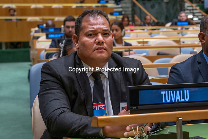 LOS general debate – 27 September<br /> <br /> PM<br /> <br /> His Excellency Enele Sosene SOPOAGA Prime Minister and Minister for Public Utilities of Tuvalu
