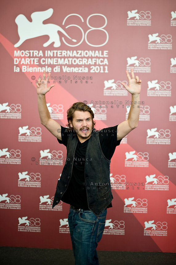 US actor Emile Hirsch poses during the photocall of 'Killer Joe' at the 68th Venice Film Festival