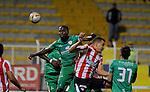 La Equidad conquistó la primera victoria en Liga este miércoles por la tarde-noche en Bogotá, al imponerse uno por cero al Atlético Junior, en partido de la fecha 6 del Torneo Apertura Colombiano 2015 que se disputó en el estadio metropolitano de Techo.