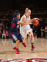 STANFORD, CA - JANUARY 16, 2015--<br /> Stanford&rsquo;s Taylor Greenfield, during the Arizona game at Maple Pavilion.