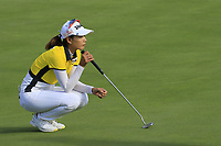 Chella Choi (KOR) on the 5th green during Thursday's Round 1 of The Evian Championship 2018, held at the Evian Resort Golf Club, Evian-les-Bains, France. 13th September 2018.<br /> Picture: Eoin Clarke | Golffile<br /> <br /> <br /> All photos usage must carry mandatory copyright credit (© Golffile | Eoin Clarke)