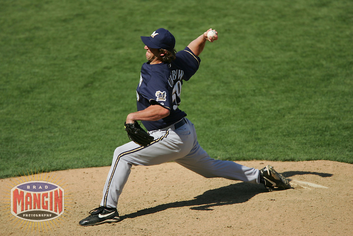 Derrick Turnbow. Baseball: Milwaukee Brewers vs San Francisco Giants. April 24, 2005 at AT&T Park in San Francisco.