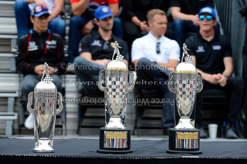 Verizon IndyCar Series<br /> Indianapolis 500 Drivers Meeting<br /> Indianapolis Motor Speedway, Indianapolis, IN USA<br /> Saturday 27 May 2017<br /> &quot;Baby Borgs&quot; for the driver and owners.<br /> World Copyright: F. Peirce Williams