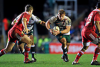 Tom Youngs of Leicester Tigers in possession. European Rugby Champions Cup match, between Leicester Tigers and Munster Rugby on December 20, 2015 at Welford Road in Leicester, England. Photo by: Patrick Khachfe / JMP