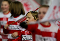 Young footballers wave flags around the stadium before the match<br /> <br /> Photographer Alex Dodd/CameraSport<br /> <br /> The EFL Sky Bet Championship - Middlesbrough v Preston North End - Wednesday 13th March 2019 - Riverside Stadium - Middlesbrough<br /> <br /> World Copyright &copy; 2019 CameraSport. All rights reserved. 43 Linden Ave. Countesthorpe. Leicester. England. LE8 5PG - Tel: +44 (0) 116 277 4147 - admin@camerasport.com - www.camerasport.com