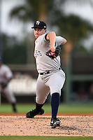 Tampa Yankees pitcher Eric Ruth (17) during a game against the Lakeland Flying Tigers on April 5, 2014 at Joker Marchant Stadium in Lakeland, Florida.  Lakeland defeated Tampa 3-0.  (Mike Janes/Four Seam Images)