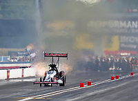 Sep 2, 2018; Clermont, IN, USA; NHRA top fuel driver Billy Torrence during qualifying for the US Nationals at Lucas Oil Raceway. Mandatory Credit: Mark J. Rebilas-USA TODAY Sports