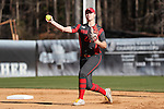 19 February 2017: Ohio State's Lilli Piper. The Ohio State University Buckeyes played the University of Louisville Cardinals at Anderson Family Softball Stadium in Chapel Hill, North Carolina as part of the ACC/Big 10 College Softball Challenge. OSU won the game 4-3.