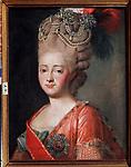 Portrait of Empress Maria Feodorovna (Sophie Dorothea of Württemberg) (1759-1828)<br /> Artist: Roslin, Alexander (1718-1793)<br /> Museum: Regional Art Museum, Kaluga<br /> Method: Oil on canvas<br /> Created: 1770s<br /> School: Sweden<br /> Trend in art: Rococo