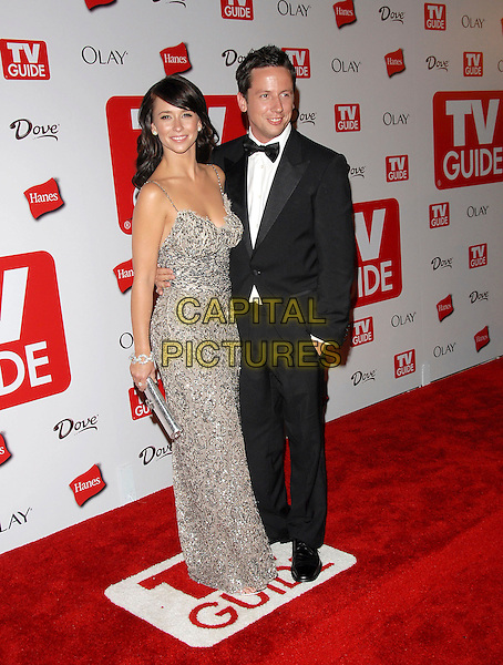 JENNIFER LOVE HEWITT & ROSS.attends The 4th Annual TV Guide Post Emmy Party .held at Social in Hollywood, California, USA, .August 27, 2006..full length  grey silver dress clutch bag.Ref: DVS.www.capitalpictures.com.sales@capitalpictures.com.©Debbie VanStory/Capital Pictures