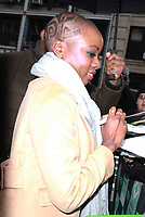 NEW YORK, NY - FEBRUARY 12: Danai Gurira at Build Series promoting her new movie Black Panther in New York City February 12, 2018. <br /> CAP/MPI/RW<br /> &copy;RW/MPI/Capital Pictures