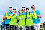 At the Banna Beach Beast Challenge on Saturday were front Kim O'Sullivan,Deirdre O'Sullivan and Ciara Flahery back l-r Dave O'Sullivan, Tom Craig and Sean O'Sullivan