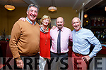 Enjoying the hospitality evening in the Brogue Inn on Tuesday evening<br /> L-r, Michael and Martina McDonnell (Woodlands Caravan Park), Aidan Teahan (Brogue Inn) and Paddy Stack (Woodbrook House B and B).