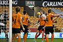 Luke Jones of Stevenage heads for goal<br />  - Wolverhampton Wanderers v Stevenage - Sky Bet League One - Molineux, Wolverhampton - 2nd November 2013. <br /> © Kevin Coleman 2013
