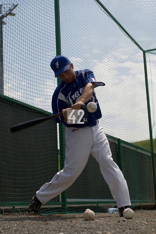 BASEBALL - GREEN ROLLER PARK - PRAGUE (CZECH REPUBLIC) - 24/06/2008 - PHOTO: CHRISTOPHE ELISE.SEBASTIEN MORGAVI (TEAM FRANCE)