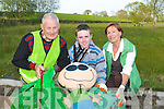 Pat Moriarty, Adam Walsh and Kathleen O'Regan-Sheppard busy picking up the litter on the Tralee road, Killarney on Tuesday evening