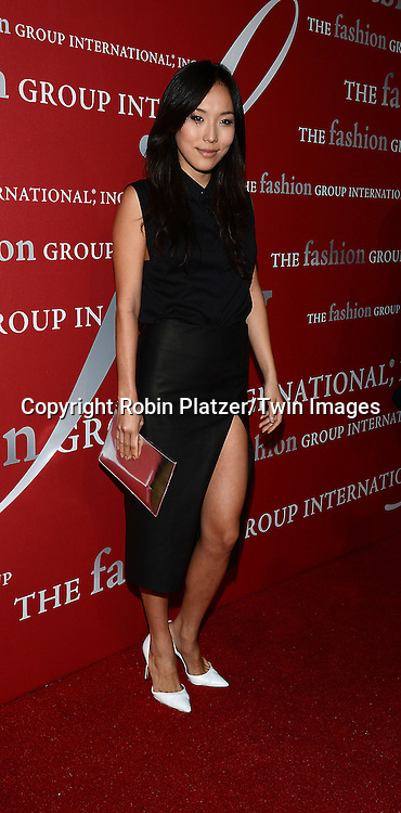 Ji Oh attends the 31st Annual Night of Stars &quot;The Protagonists&quot;<br /> presented by The Fashion Grouip International on October 23, 2014 at Cipriani Wall Street in New York City. <br /> <br /> photo by Robin Platzer/Twin Images<br />  <br /> phone number 212-935-0770