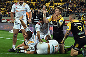 9th June 2017, Westpac Stadium, Wellington, New Zealand; Super Rugby; Hurricanes versus Chiefs;  Hurricanes' player Jordie Barrett claims a successful tackle