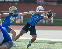 NWA Democrat-Gazette/BEN GOFF @NWABENGOFF<br />  Thursday, July 11, 2019, during the Border Battle 7-on-7 Tournament, in partnership with the Pro Football Hall of Fame Scholastic 7v7 series, at Branson (Mo.) High School's Pirates Stadium.