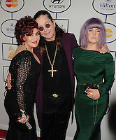 WWW.BLUESTAR-IMAGES.COM (L-R) TV personality Sharon Osbourne, musician Ozzy Osbourne and Tv personality Kelly Osbourne attend the 56th annual GRAMMY Awards Pre-GRAMMY Gala and Salute to Industry Icons honoring Lucian Grainge at The Beverly Hilton on January 25, 2014 in Los Angeles, California.<br /> Photo: BlueStar Images/OIC jbm1005  +44 (0)208 445 8588