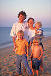 smiling family at beach