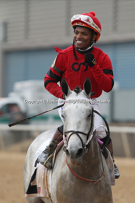 February 17, 2020: Silver Prospector (2) with jockey Ricardo Santana Jr. aboard after winning the Southwest Stakes at Oaklawn Racing Casino Resort in Hot Springs, Arkansas on February 17, 2020. Justin Manning/Eclipse Sportswire/CSM