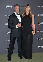 LOS ANGELES, CA. October 29, 2016: Actor Sylvester Stallone &amp; wife Jennifer Flavin at the 2016 LACMA Art+Film Gala at the Los Angeles County Museum of Art.<br /> Picture: Paul Smith/Featureflash/SilverHub 0208 004 5359/ 07711 972644 Editors@silverhubmedia.com