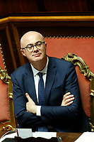 Federico D'Inca' Minister for the relations with Parliament<br /> Rome December 12th 2019. Speech of the Italian Premier about MES, European Stability Mechanism.<br /> Foto Samantha Zucchi Insidefoto
