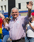 Nevada Governor candidate Steve Sisolak walks in the Pride Parade in downtown Reno on Saturday, July 28, 2018.