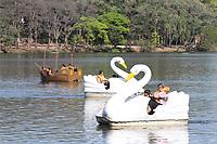CAMPINAS, SP, 10.08.2019: CLIMA-SP - Movimentação no Parque Portugal (Lagoa do Taquaral) nesta sábado (10). (Foto: Luciano Claudino/Código19)