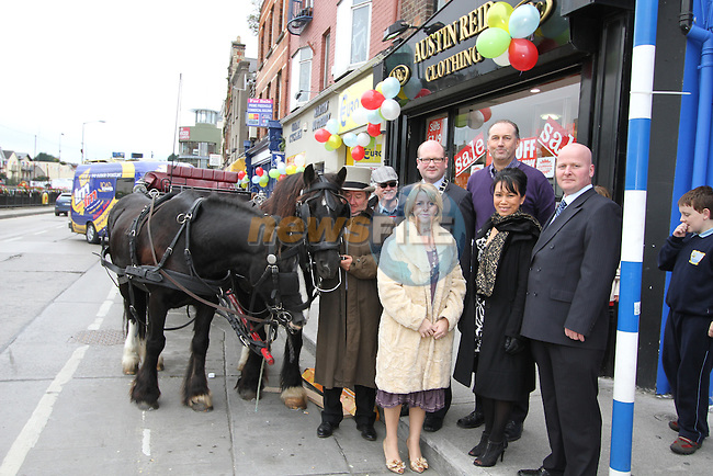 Les Eakin, Boyne Framing, Betty McDonnell, The Cut Above, Deputy Mayor Ged Nash, Mai Tham, Gerard Gardiner of Waterfront Interiors and Les Cooling, Eurostop, at the Official Launch of the North Quay Retail Event...Picture Jenny Matthews/Newsfile.ie